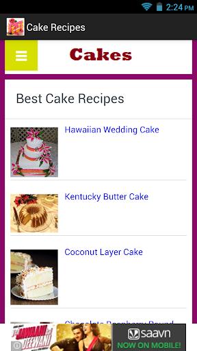 Cake Recipes App