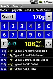 Easy Carb Counter - screenshot thumbnail