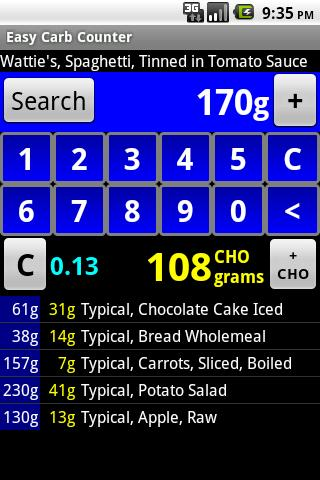 Easy Carb Counter - screenshot
