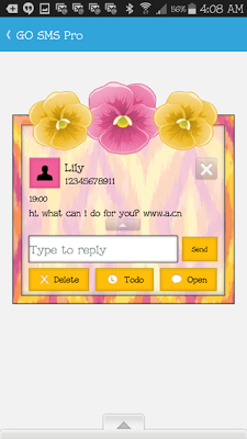 GO SMS THEME - SCS444 - screenshot