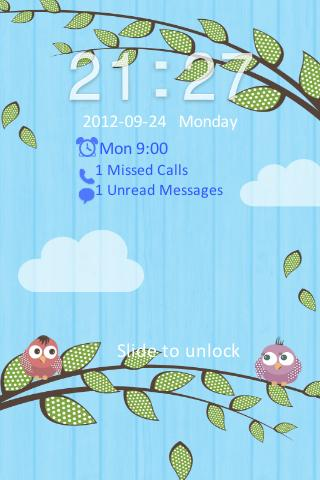 Go Locker Love Birds Theme- screenshot