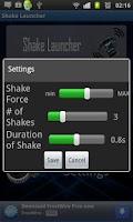 Screenshot of Shake Launcher