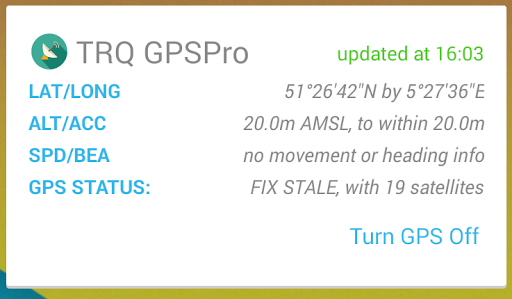 GPS Status Widget by TRQ