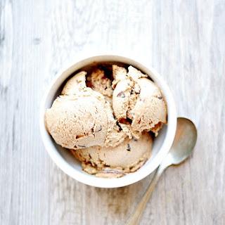 Toasted Marshmallow Ice Cream with Fudge and Graham Swirls