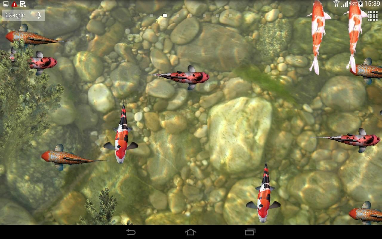 Koi fish live wallpaper 3d android apps on google play - 3d koi pond live wallpaper iphone ...