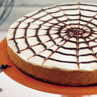 Spider Wed Pumpkin Cheesecake Brownie