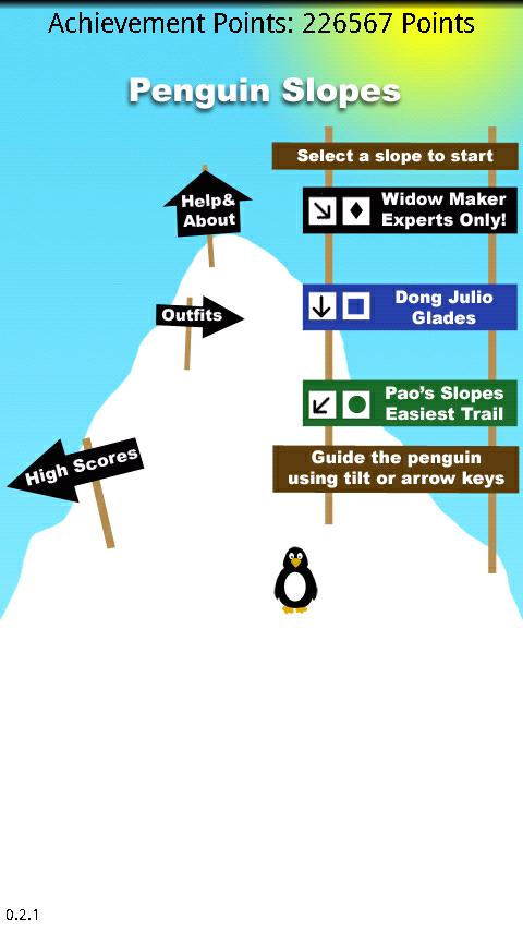 Penguin Slopes - screenshot