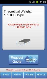 Metal Weight Calculator- screenshot thumbnail