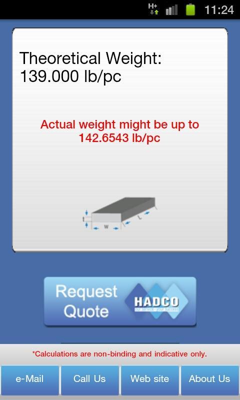 Metal Weight Calculator- screenshot
