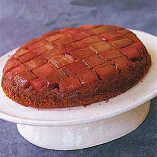 Rhubarb Anise Upside-Down Cake.