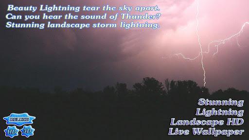 玩個人化App|Stunning Lightning Landscape免費|APP試玩