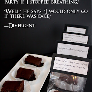 Dauntless Chocolate Cake Recipe and Free Divergent Quote Printables