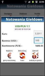 Notowania Giełdowe GPW +Widget- screenshot thumbnail