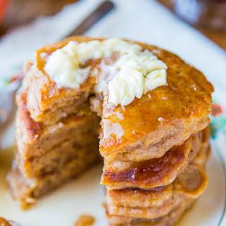 Apple Pie Pancakes with Vanilla Maple Syrup.