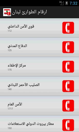 ارقام الطوارئ لبنان