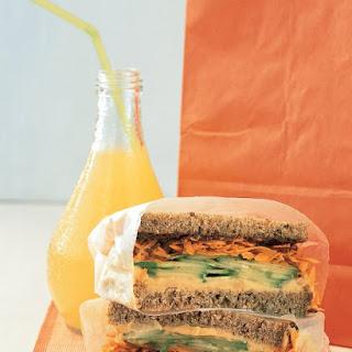 Hummus Vegetable Sandwich.