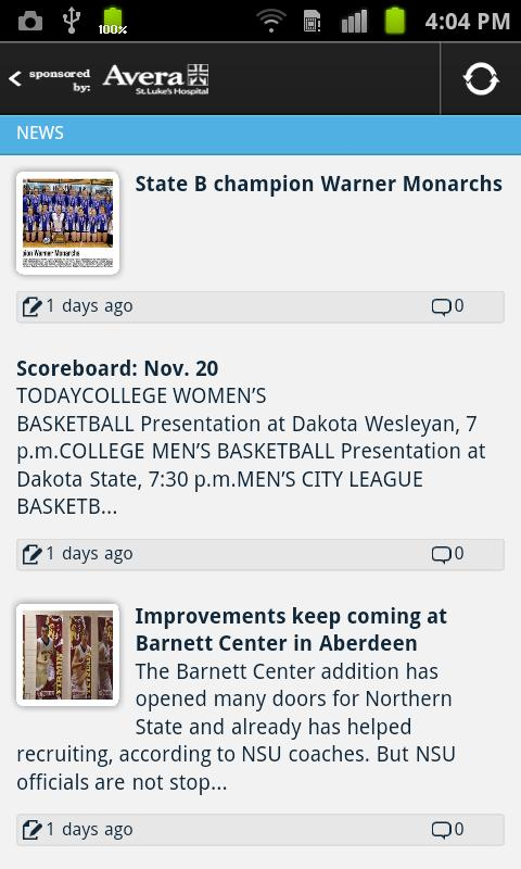 Aberdeen American News Sports - screenshot