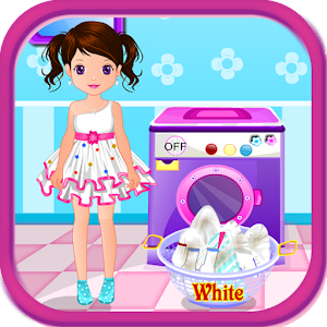 Wash laundry games for girls for PC and MAC
