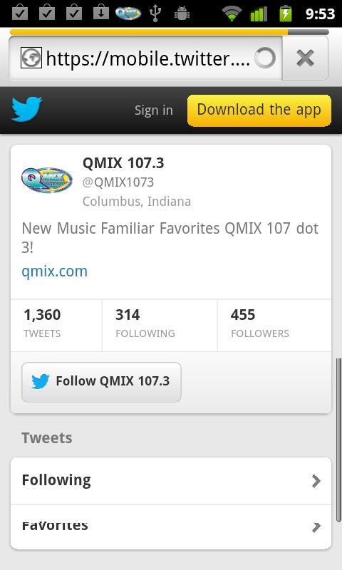 QMIX 107.3 - screenshot