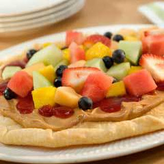 Peanutty Fruit Pizza.