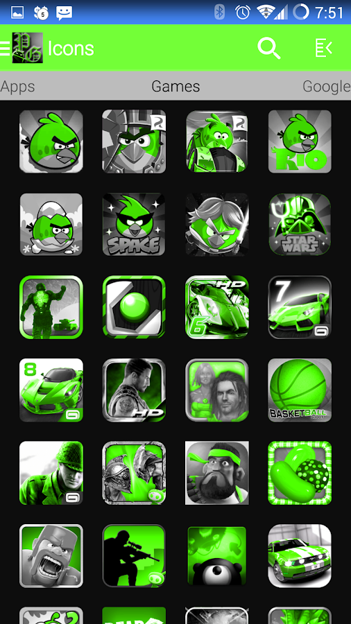 PoisonGreen Icon Pack- screenshot