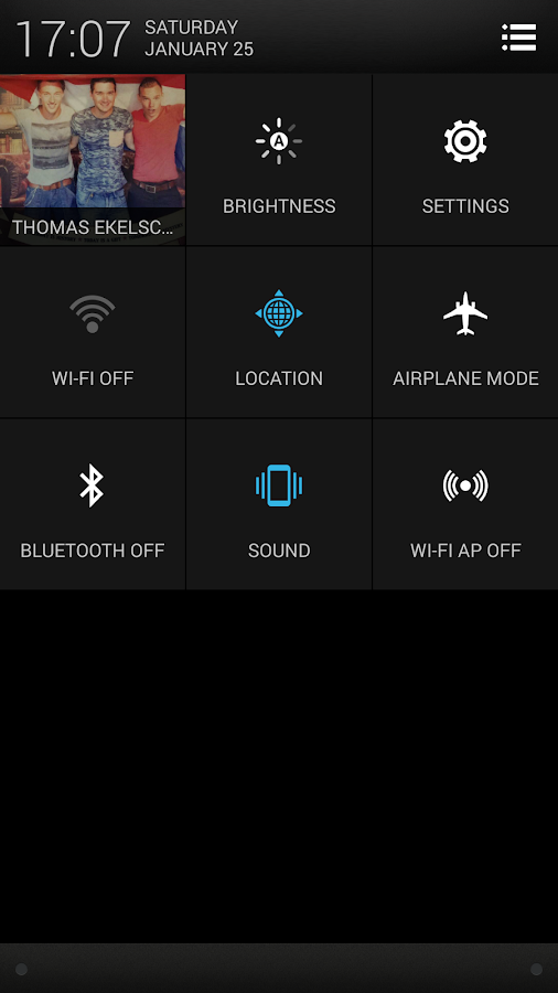 CM11 CM10 HTC One Sense theme - screenshot