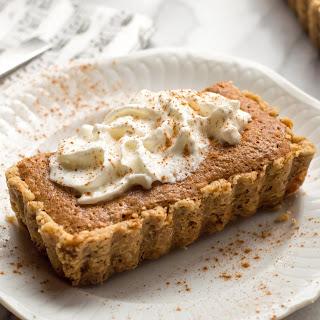 Gluten-Free Pear Tart with Walnut Crust & Frangipane.