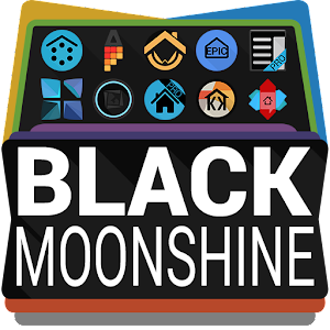 Black Moonshine Launcher Theme 個人化 App LOGO-APP試玩