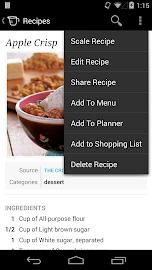 Recipe, Menu & Cooking Planner Screenshot 3