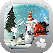 (Go Launcher) Snow globe