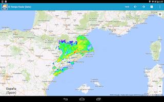 Screenshot of Radar el Temps (beta)