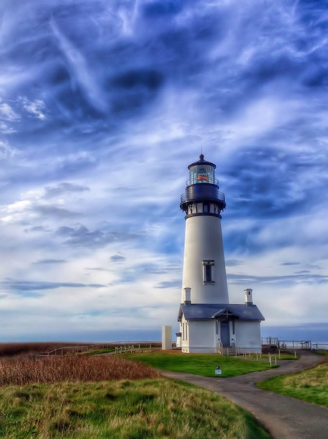 Yaquina Lighthouse by Christy Sawyer - Buildings & Architecture Public & Historical ( lighthouse, coast )