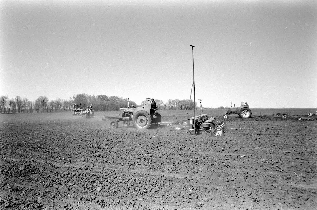 Corn Planting In The Middle-West States