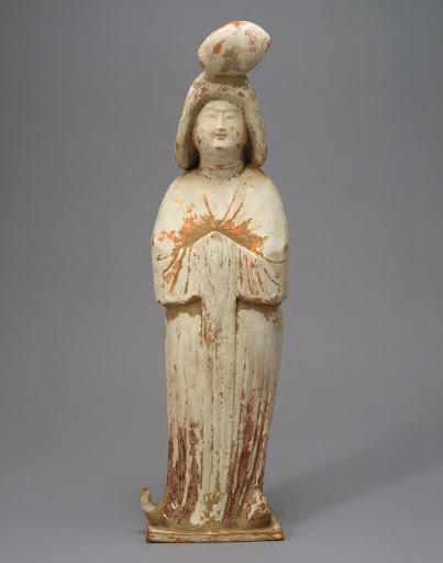 Figure of Lady, Painted Earthenware