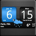 App FlipClock AhMan BLUE 4x2 version 2015 APK
