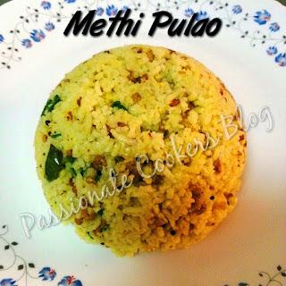 Methi / Fenugreek Pulao Recipe