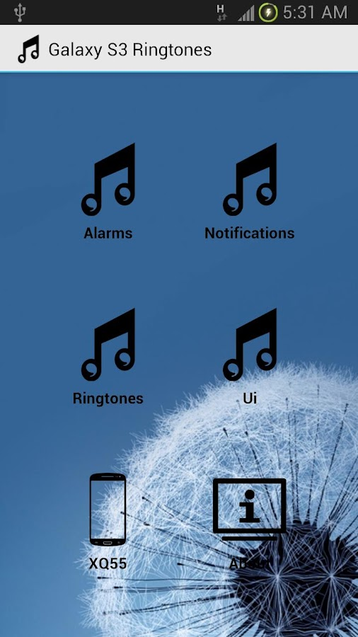 Galaxy S3 Ringtones - screenshot