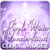 Purple Winter Wonderland Clock