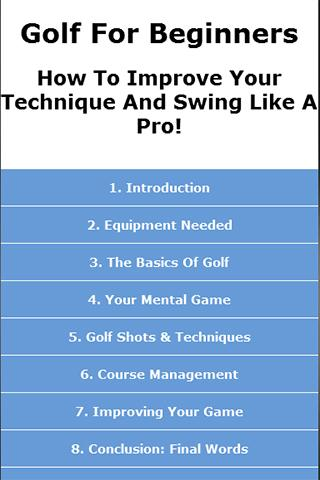 Golf Guide for Beginners