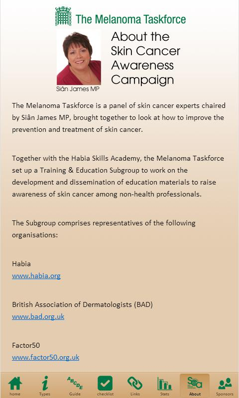 HSA Skin Cancer Awareness - screenshot