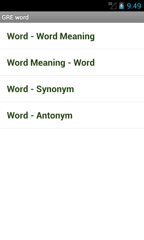 GRE Word - screenshot