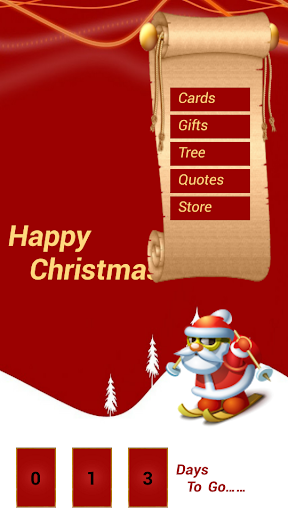 Christmas Cards Trees Gifts