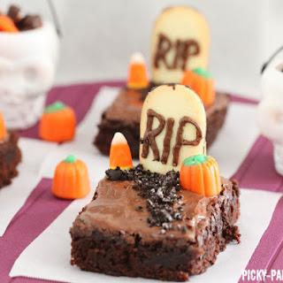 Fudgy Graveyard Brownies