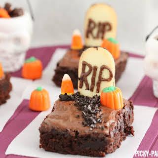 Fudgy Graveyard Brownies.