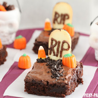 Fudgy Graveyard Brownies.