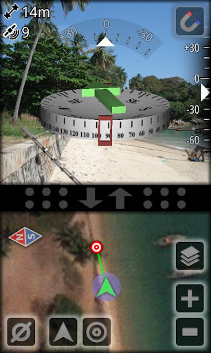 AR GPS Compass Map 3D Pro