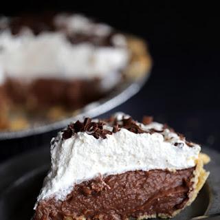 Homemade Chocolate Pudding Pie.