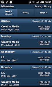 E-Timetable screenshot 0