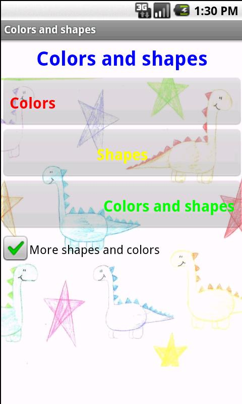 Learning games for kids- screenshot