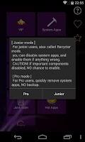 Screenshot of Root App Deleter
